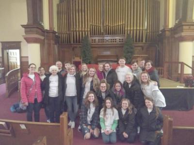 Group at church