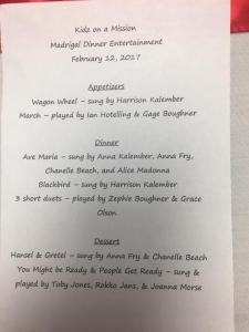 Madrigal program